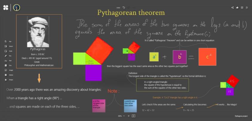 Blackboard-Pythagorean