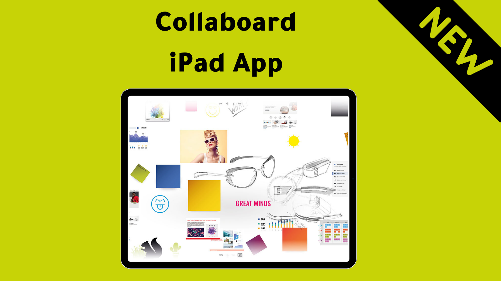 iPad App from Collaboard for interactive and creative work