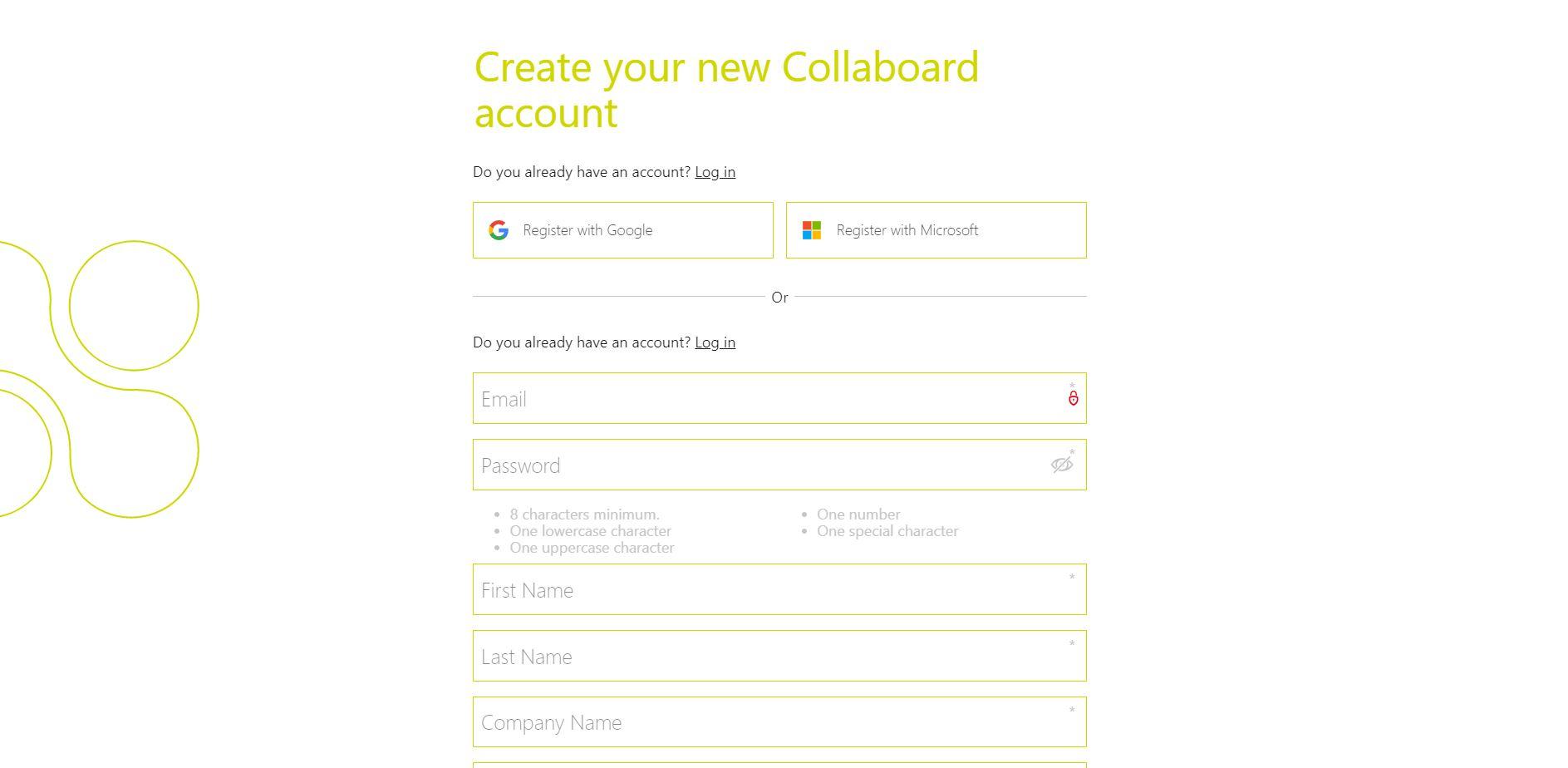 Register in Collaboard