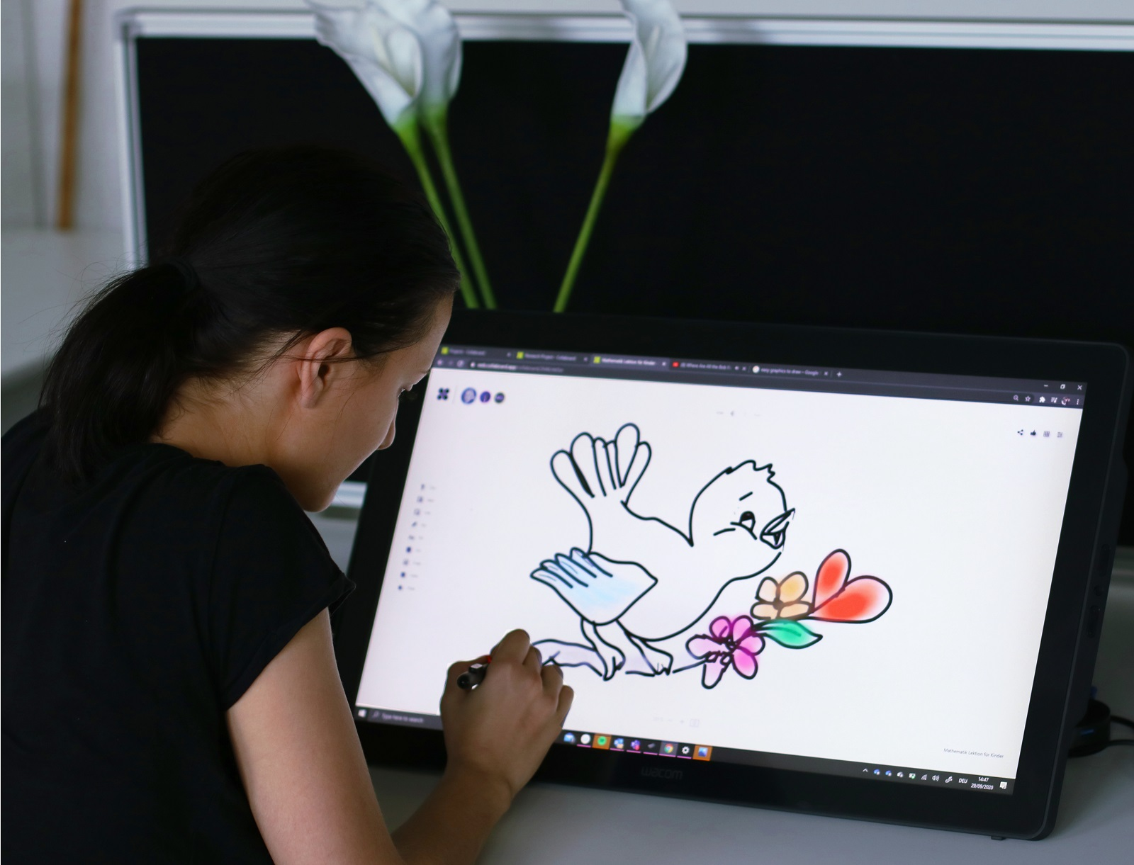 drawing on collaboard