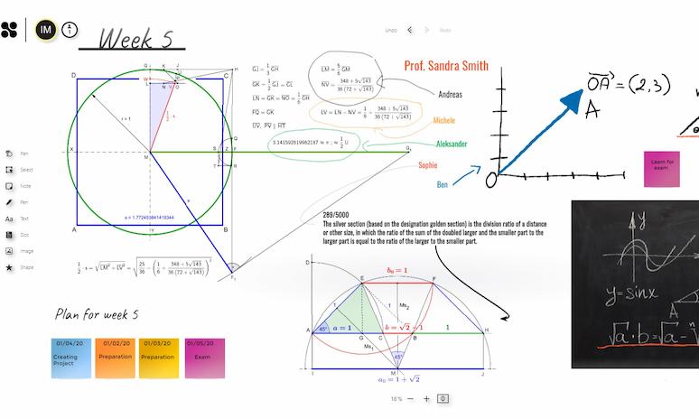 Math lesson on Collaboard EDU