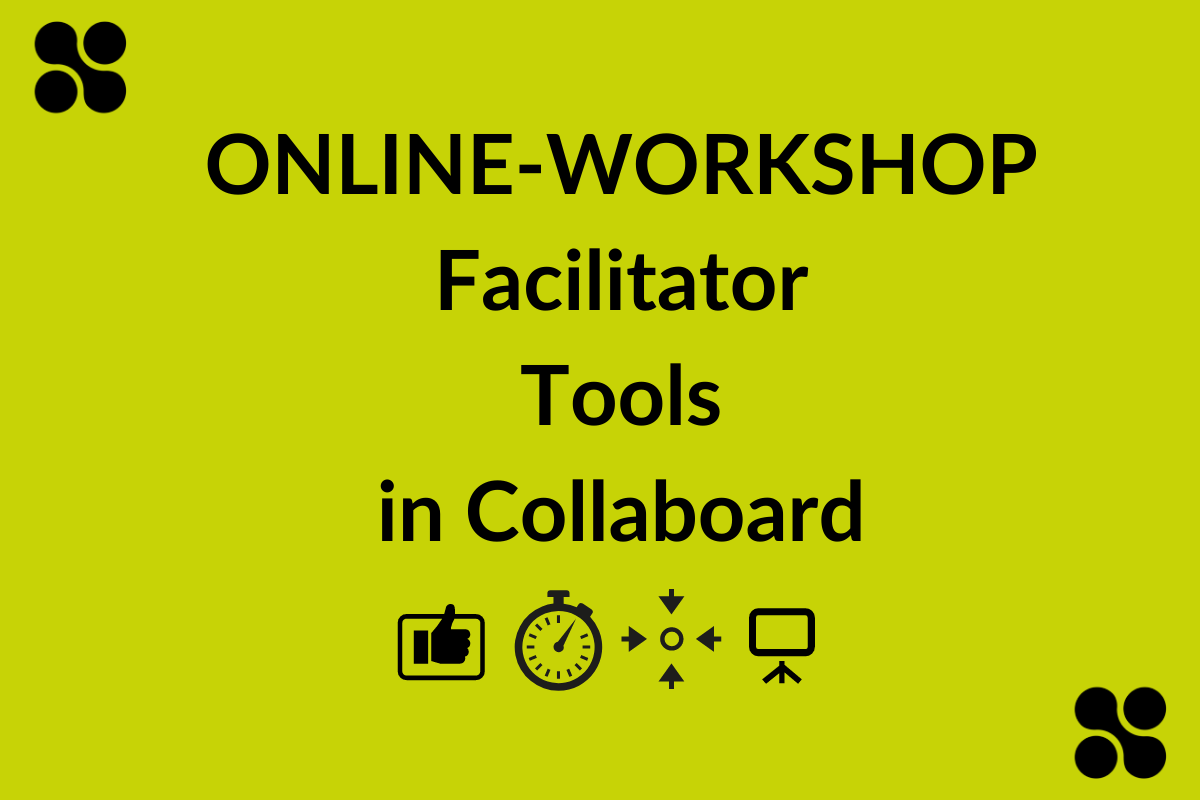 Collaboard facilitator tools for GDPR compliant online whiteboard software for interactive and creative meetings and workshops