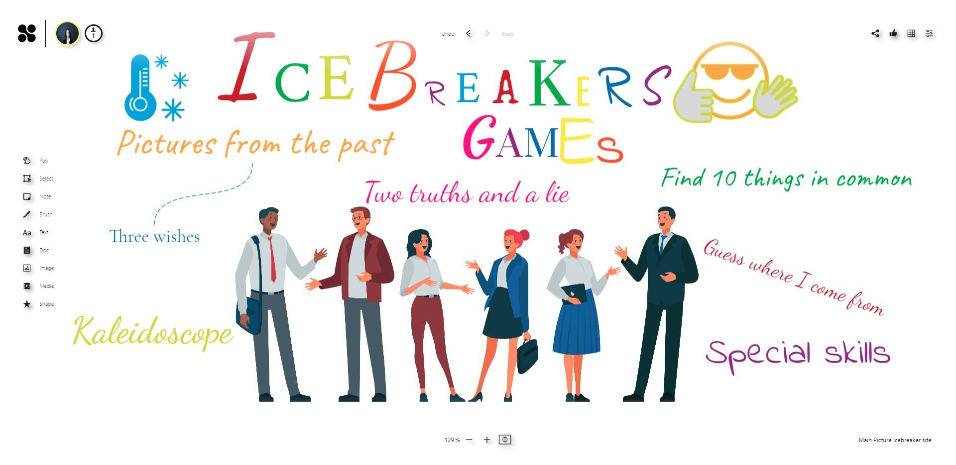 Ice breaker games to play remote with online whiteboard